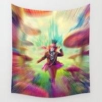mad hatter Wall Tapestries featuring Mad Hatter by dreamshade