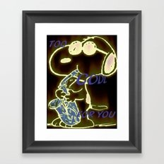 Too Cool Snoopy Framed Art Print