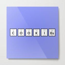 Cookies Chemical element B57c7 Metal Print