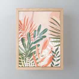 Tropical Leaves 4 Framed Mini Art Print
