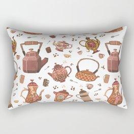 Tea Pots White Rectangular Pillow