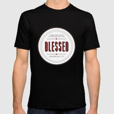 Blessed Mens Fitted Tee Black MEDIUM