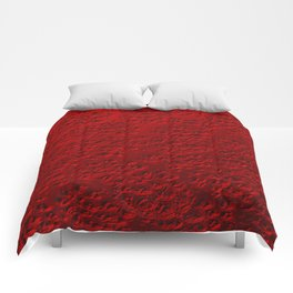 Damaged red metal Comforters