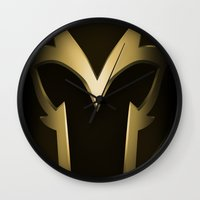 magneto Wall Clocks featuring Magneto Deco by Sara Machajewski
