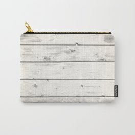 Light Natural Wood Texture Carry-All Pouch