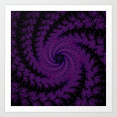 Purple Spiral Fractal Design Art Print