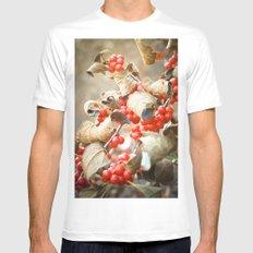 Winter Berries Mens Fitted Tee White MEDIUM