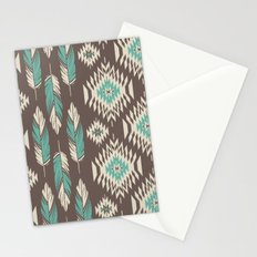 Native Roots - Turquoise & Brown Stationery Cards