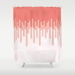 Salmon melt Shower Curtain