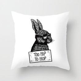 Too Hip To Hop Throw Pillow