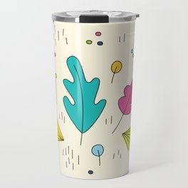 leaves and colors in the forest Travel Mug