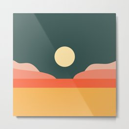 Geometric Landscape 14 Metal Print
