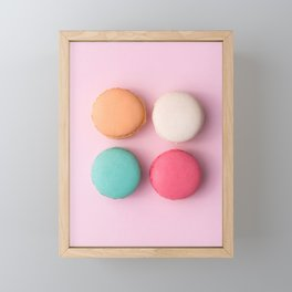 Pink Macaroons Framed Mini Art Print
