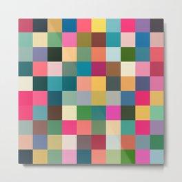 Multicolor Pixel Tiles Art - Kumulipo Metal Print
