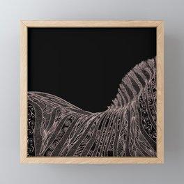 Gorgeous Abstract Zebra Flowers Design Framed Mini Art Print