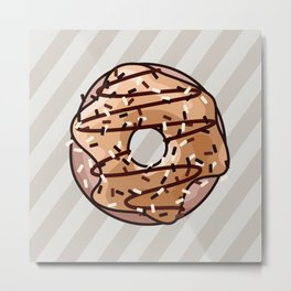 Toffee and Chocolate Donut Metal Print