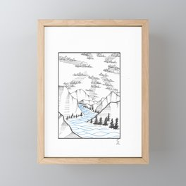 Over the Hills and Far Away Framed Mini Art Print