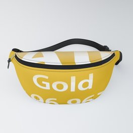 Gold Au chemical element Fanny Pack