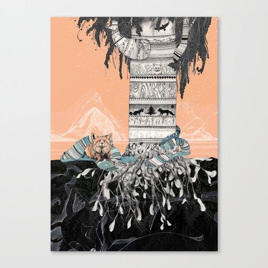 Fox Tree Canvas Print
