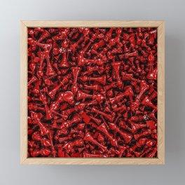 Bloody chess Framed Mini Art Print
