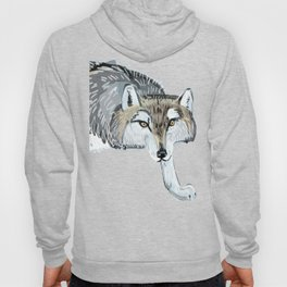 Totem Hokkaido grey wolf (Blue) Hoody