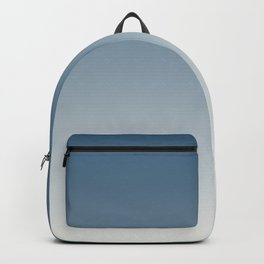 Blue & Off White Gradient Ombre Blend Inspired by 2020 Color of the Year Chinese Porcelain PPG1160-6 Backpack