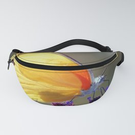 Yellow butterfly Fanny Pack