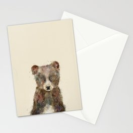 little brown bear Stationery Cards
