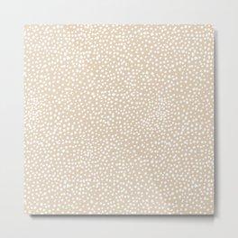 Little wild cheetah spots animal print neutral home trend warm honey yellow beige Metal Print