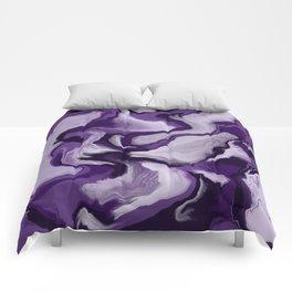 Lavender fluid Comforters