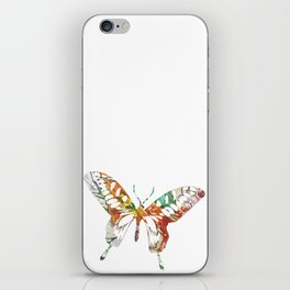 Colorful butterfly fabric art iPhone Skin