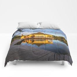 Boat House in Corolla Comforters