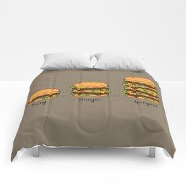 Burger explained. Burg. Burger. Burgest. Comforters