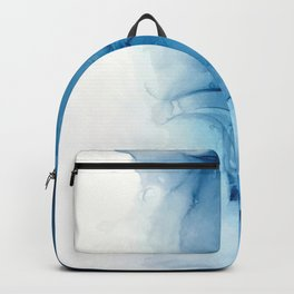 Blue Tides - Alcohol Ink Painting Backpack