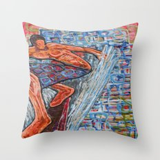 Getting Cubed Throw Pillow
