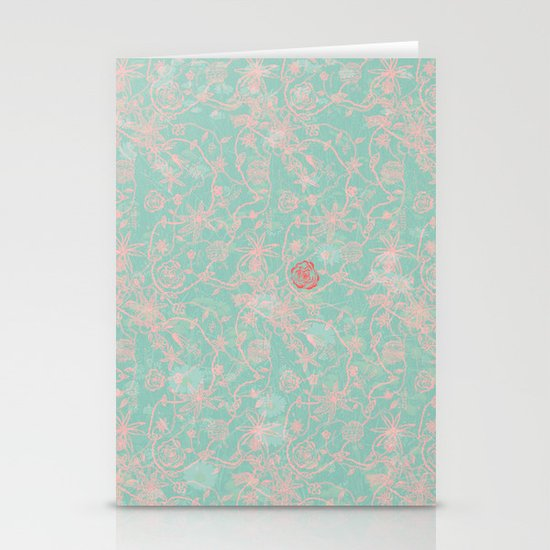 Tribal Flowers Stationery Cards