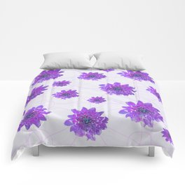 Purple evening Comforters