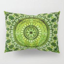 Vintage Lime Mandala Pillow Sham