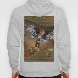 Cute steampunk girl with wings Hoody
