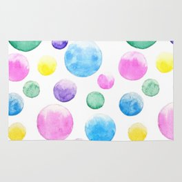 cheerful colorful bubbles Rug