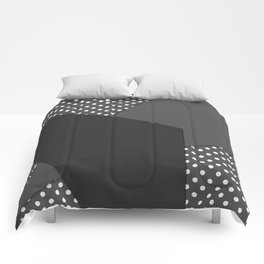 Grey abstract abstract Comforters