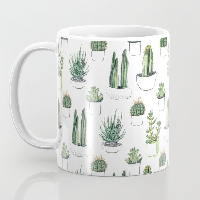 Watercolour Cacti & Succulents Coffee Mug