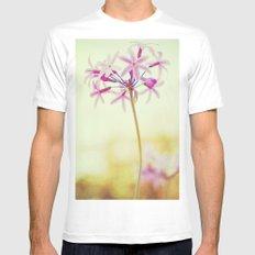 Flower MEDIUM White Mens Fitted Tee