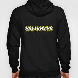 ENLIGHTEN in Brick Font Logo Design by Chillee Wilson Hoody