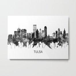 Tulsa Oklahoma Skyline BW Metal Print