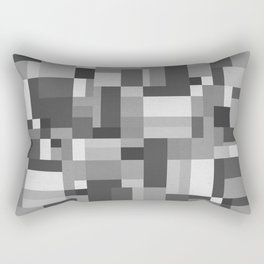 Map Tex Black and White Rectangular Pillow
