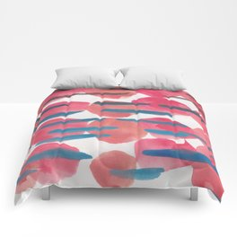 22   | 190408 Red Abstract Watercolour Comforters