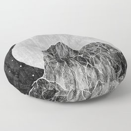 The Lone peaks of the moon Floor Pillow