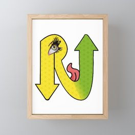 Eye Rise Logo Framed Mini Art Print