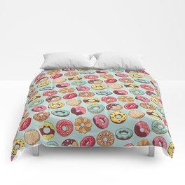 Donut Worry Be Happy Comforters